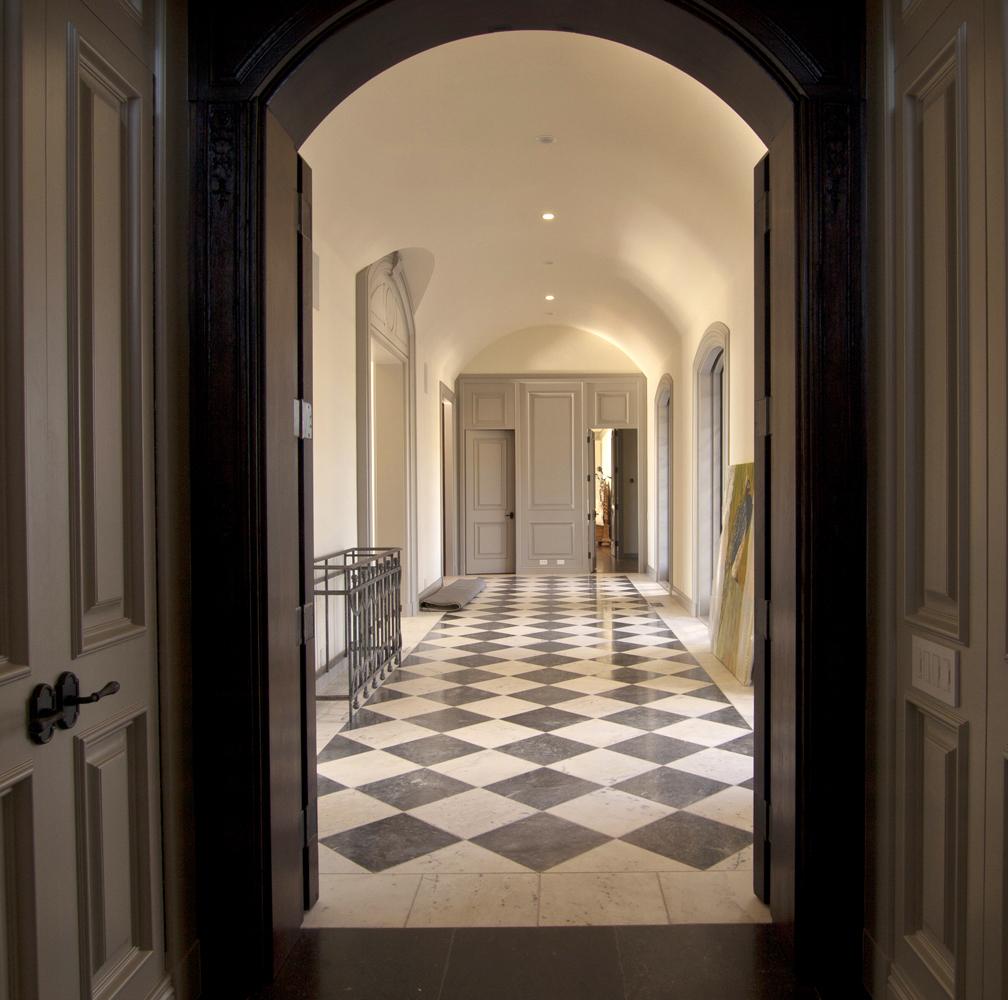 Napa Valley Estate Hallway