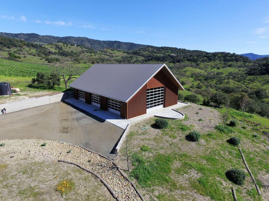 Napa Valley Estate Barn Aerial