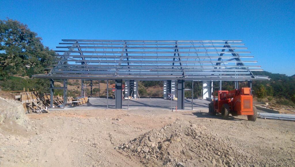 Napa Valley Estate Barn in Progress