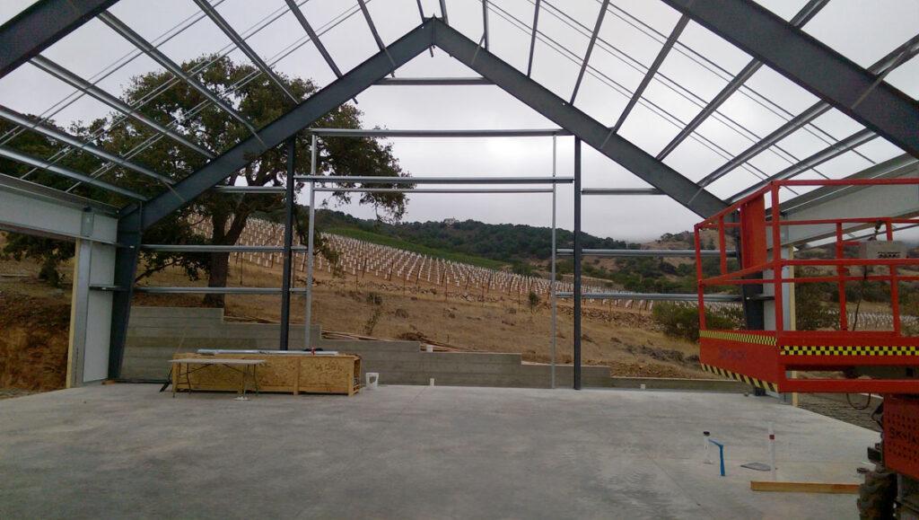 Napa Valley Estate Barn at the Beginning